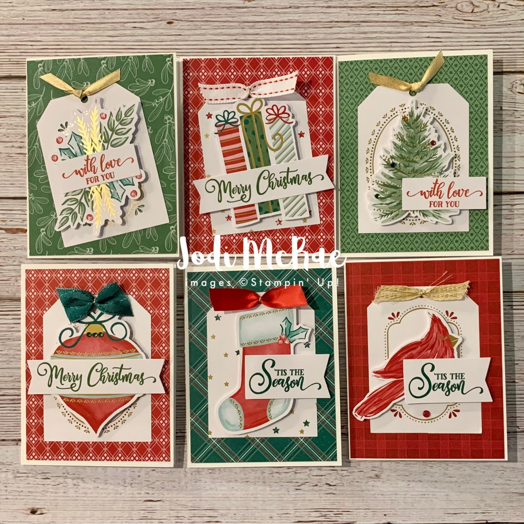 Cards made with the Tag Buffet Project Kit.